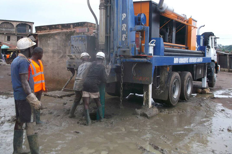 Water borehole drilling environmental effect